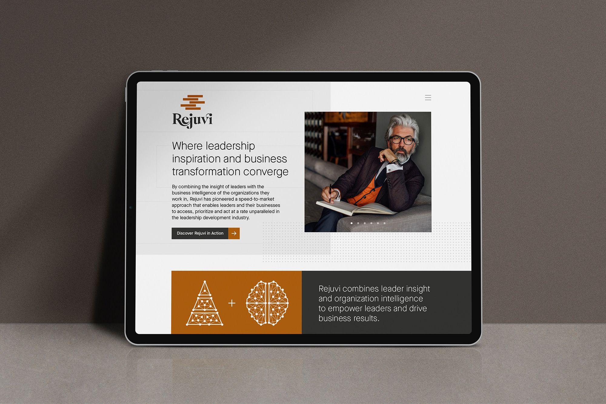 startup brand identity website