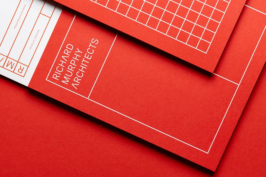 branding for architects red block colour