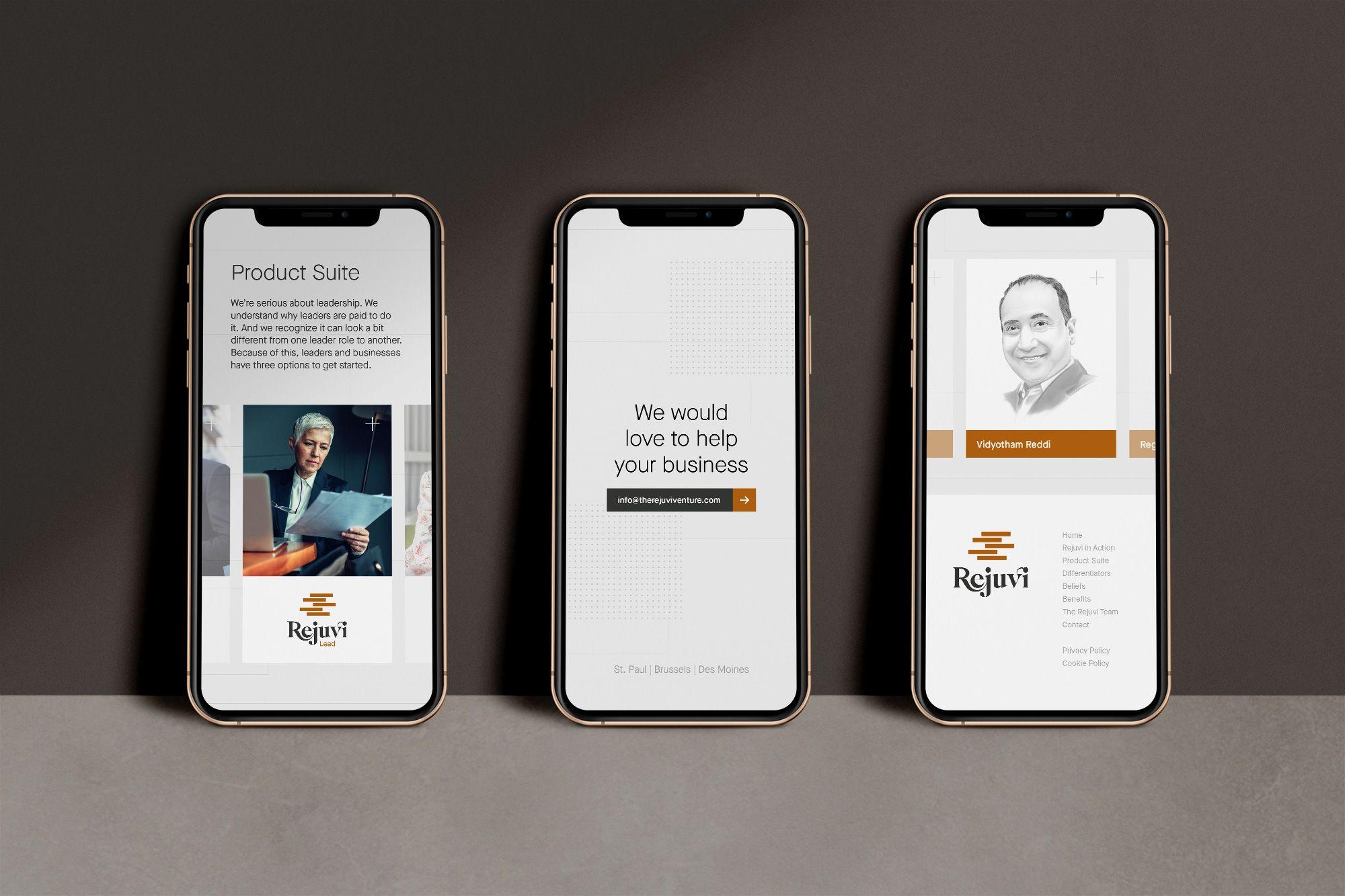 startup brand identity mobile website