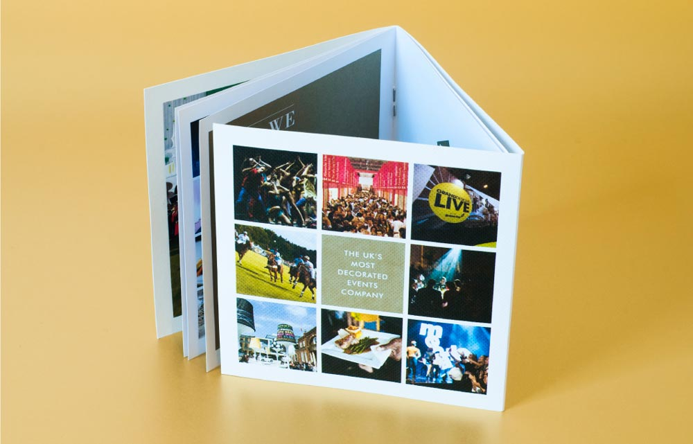 open brochure design