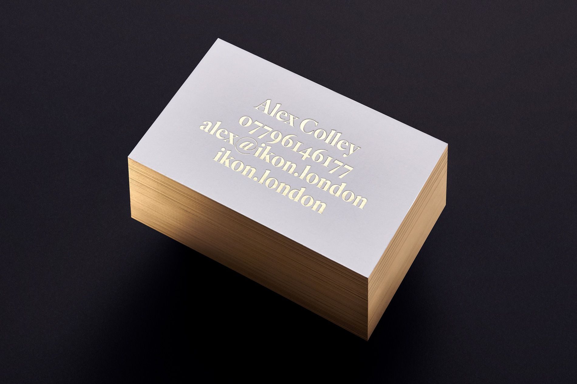 gold foil branding stationery