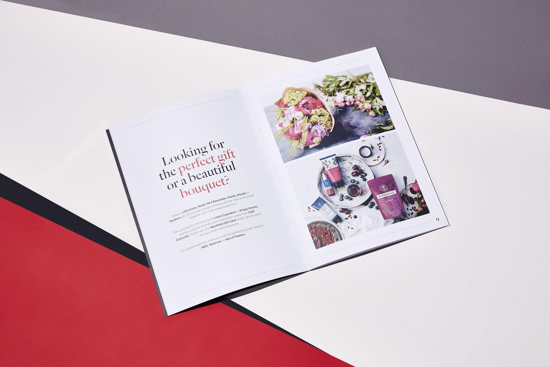 booklet design for westfield