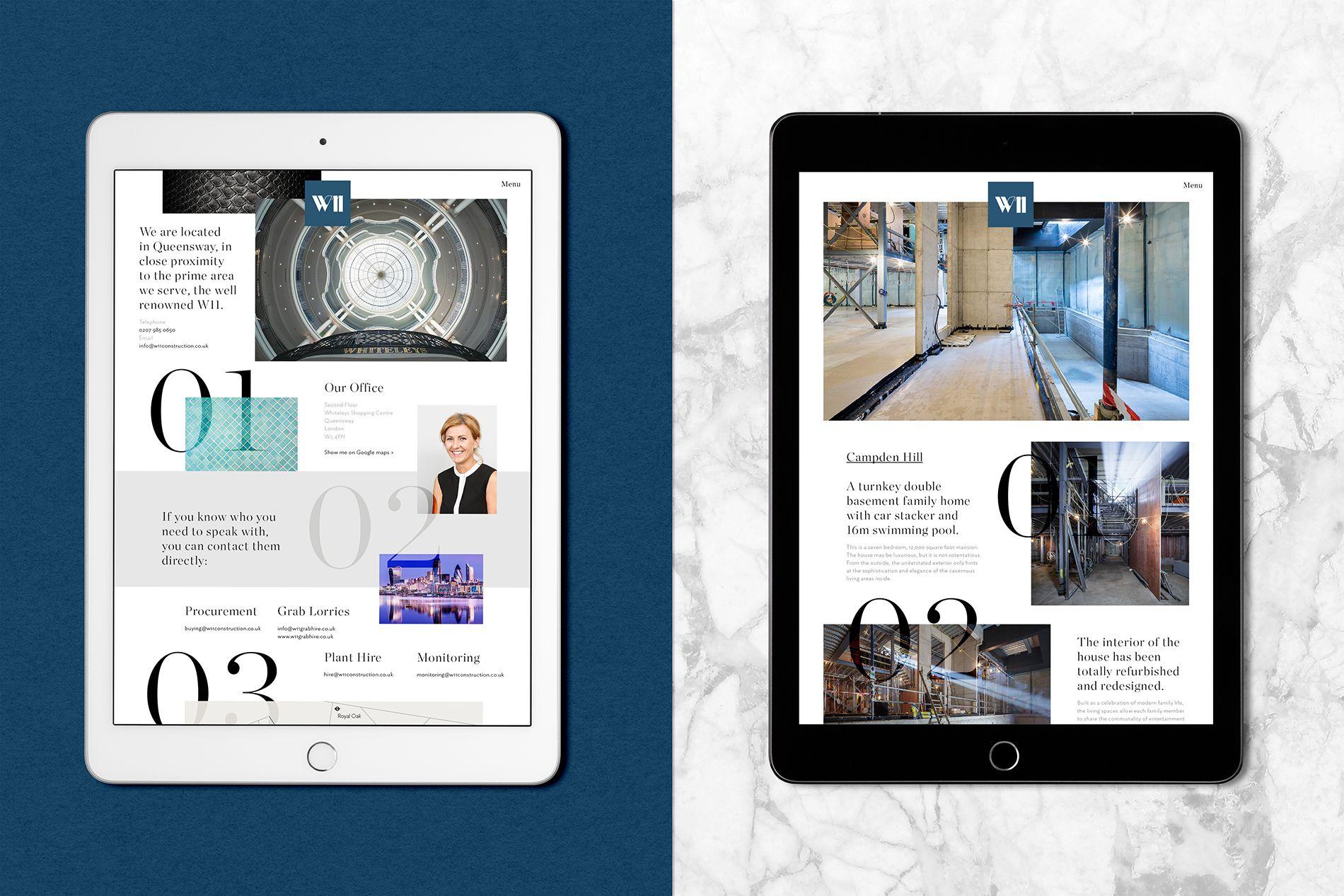 luxury digital property branding project