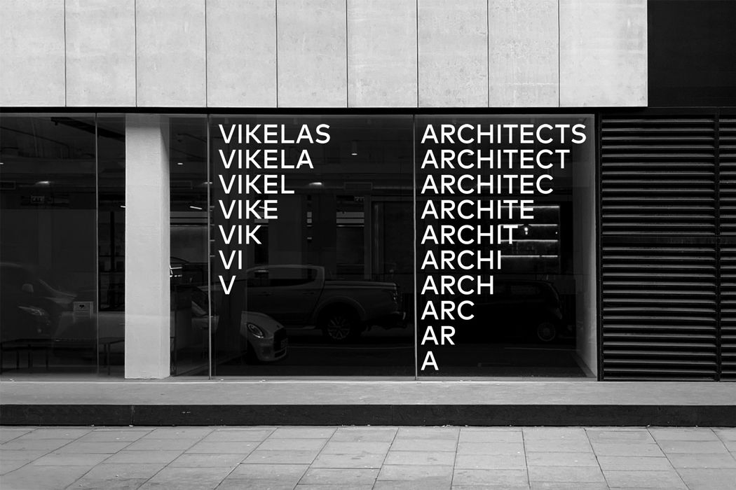 branding window display for architects