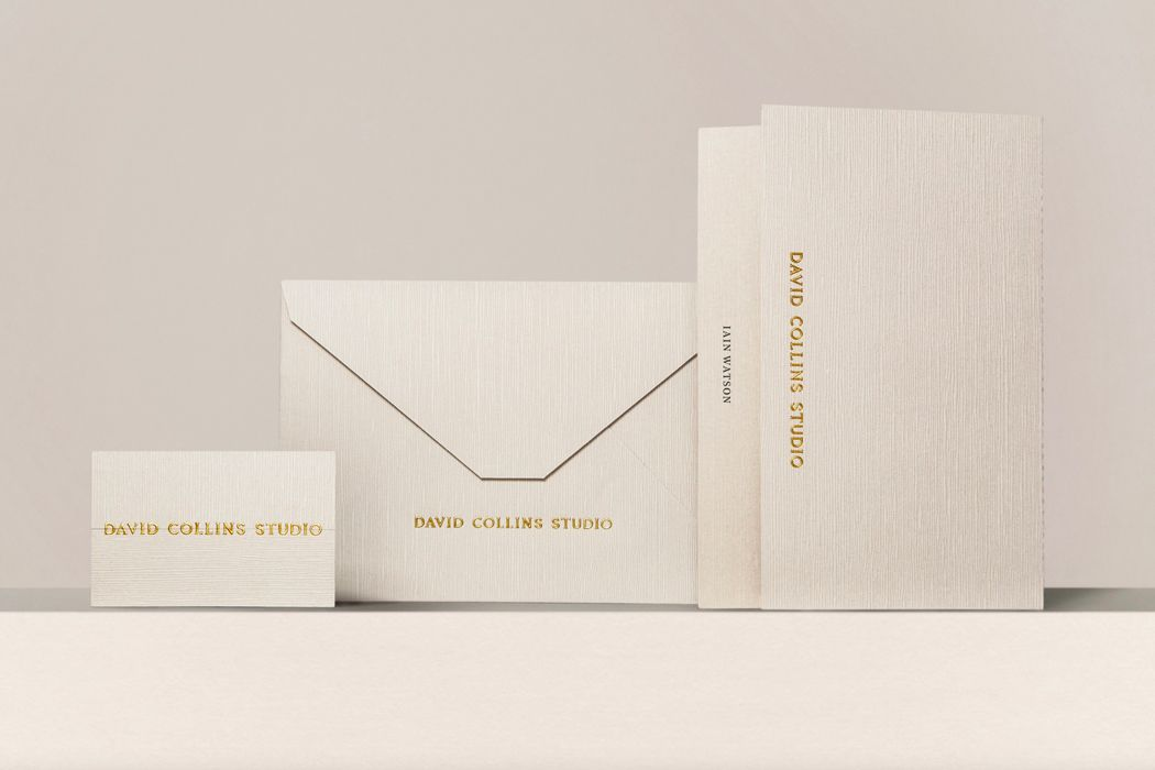branding for interior designers gold foil