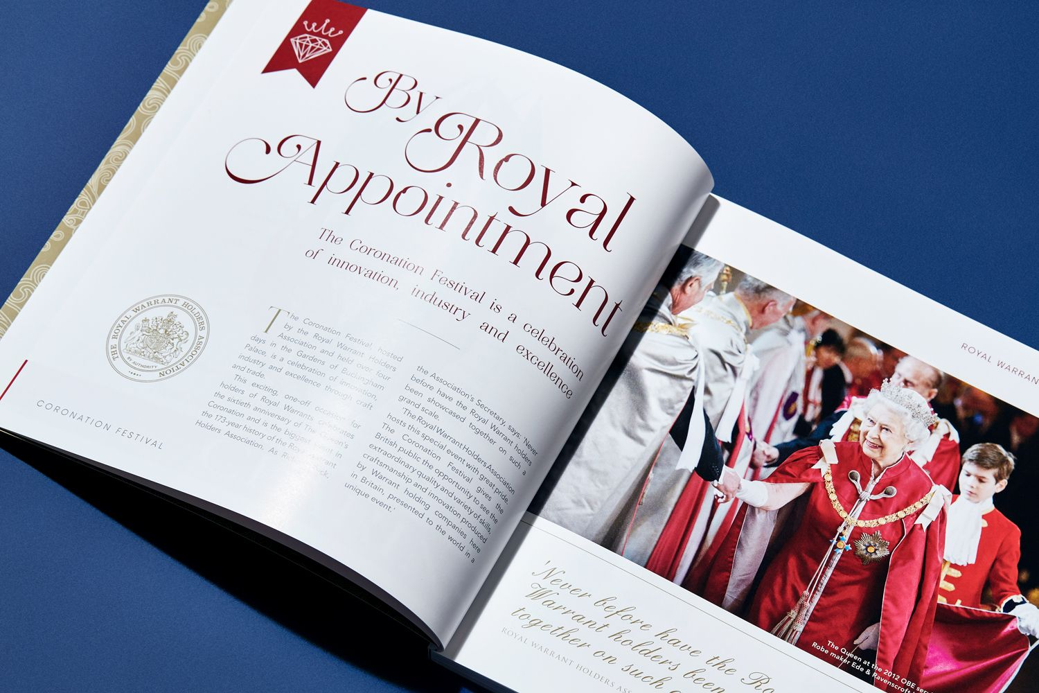 queen elizabeth in brochure design