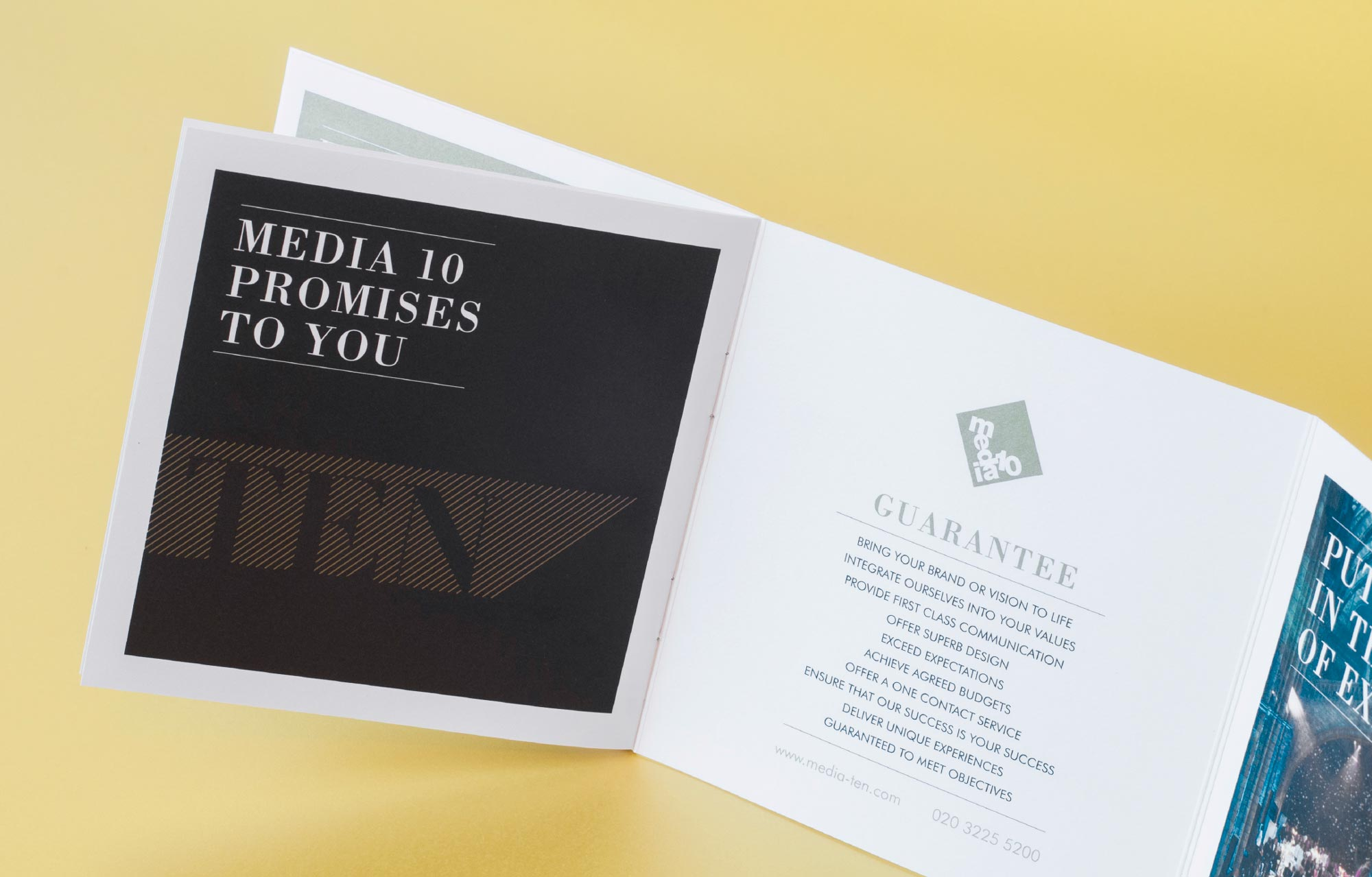 events company brochure brand promise