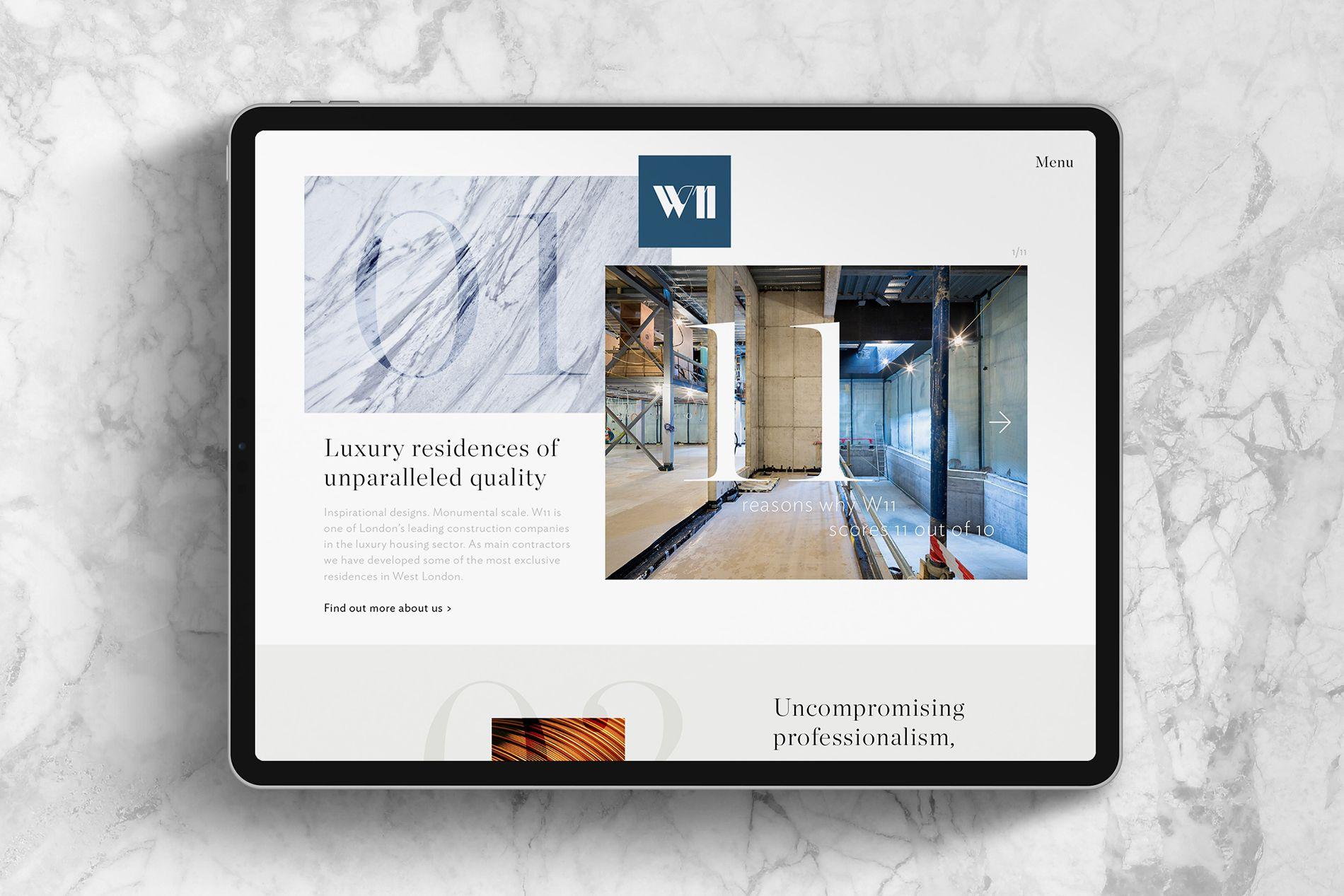 luxury branding agency website design