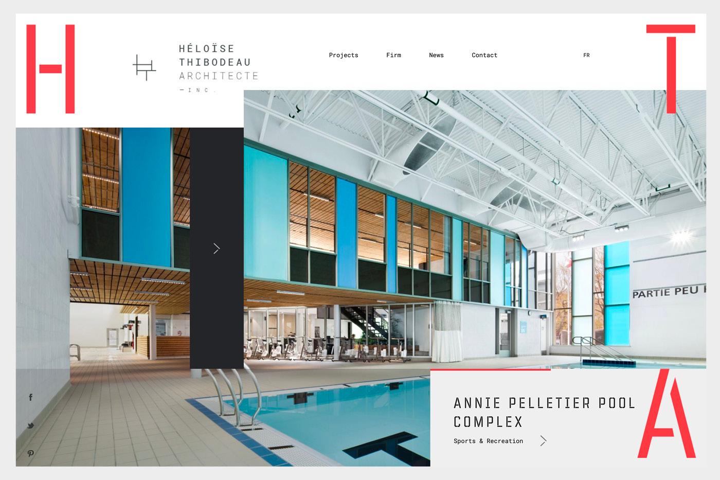 best architecture websites bold colour